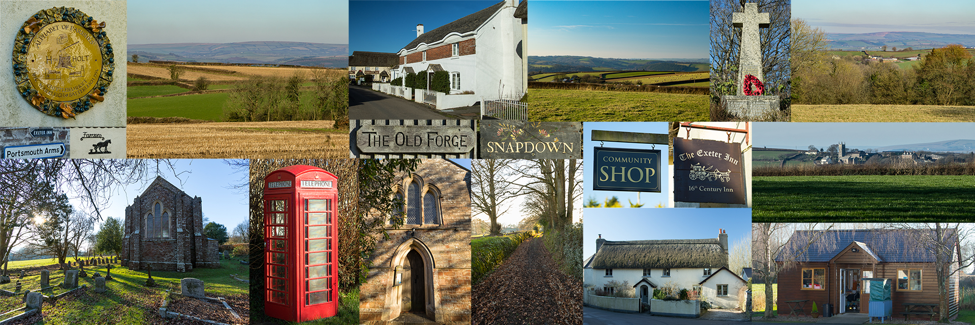 Montage of images from Chittlehamholt, Satterleigh and Warkleigh